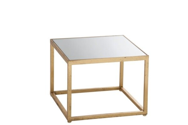 Sidetable Square Metal/Glass Gold