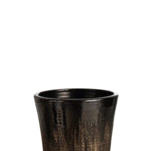 Ceramic Black and Gold Flower Pot