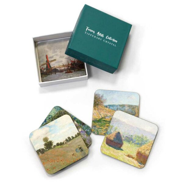 Tipperary Crystal Claude Monet Design Set of 6 Coasters