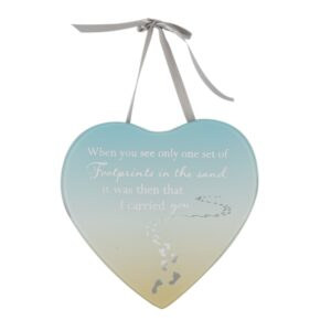 Reflections From The Heart Mirror Hanging Plaque – Footprints