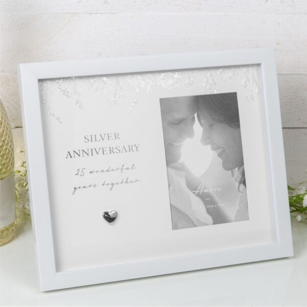 Amore Silver Anniversary Photo Frame
