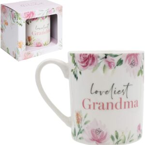 Loveliest Grandma Floral Bone China Mug