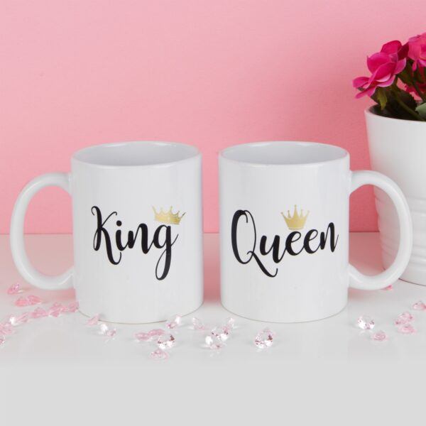 SET OF 2 KING and QUEEN MUGS