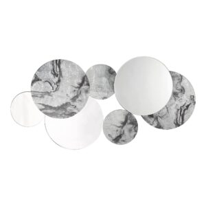 Meco Rectangle Mirror Black Marble Effect