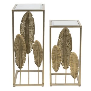 Leaves S/2 Side Tables Gold