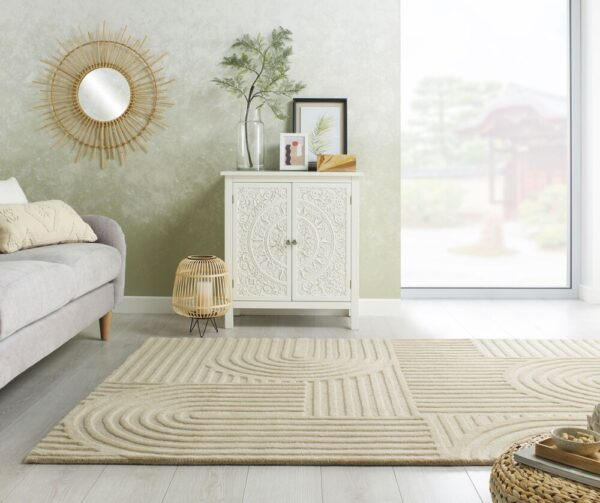 Solace Zen Garden Rug - Natural