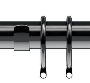 Nikola Polished Graphite Curtain Pole Set