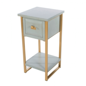 Ainsley 1 Drawer End Table Pale Blue
