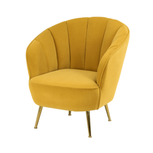 Kendall Accent Chair Mustard Yellow