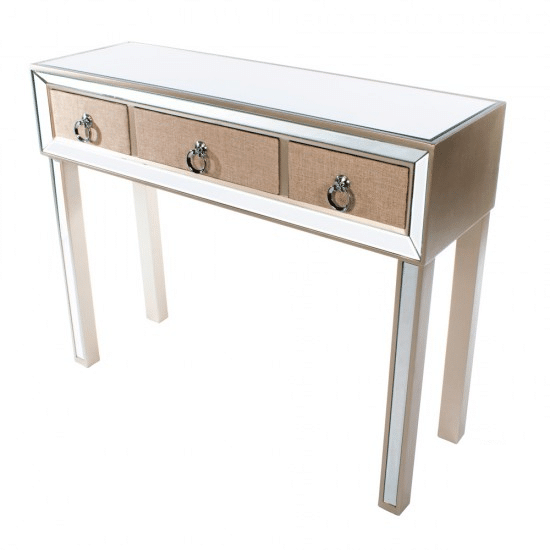 Jade Mirrored 3 Drawer Console Table