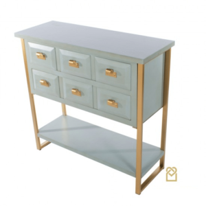 Ainsley 2 Drawer Console Table Pale Blue