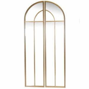Fern Cottage Antique Gold Two Part Arched Mirror