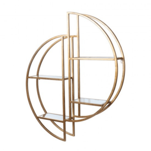 Harriet Mirrored Wall Shelf Gold