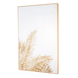 Mirror Art Fern Silhouette Gold