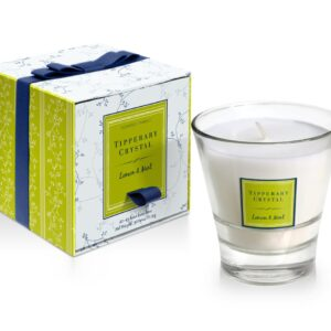 Tipperary Crystal Lemon & Mint Filled Tumbler Glass Candle