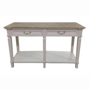 Fern Cottage Girona 2 Drawer Console Table with Shelf