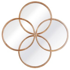 Fern Cottage Gold Foil Circle of life mirror