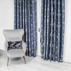 Scatterbox Watercolour Curtain - Navy