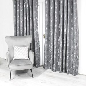 Scatterbox Watercolour Curtain - Charcoal