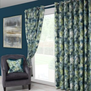 Scatterbox Aria Curtain - Teal/Green