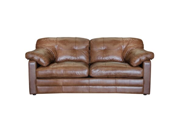 Alexander and James Bailey Brown Leather 2 Seater Sofa