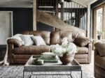 Alexander and James Bailey Brown Leather 4 Seater Sofa
