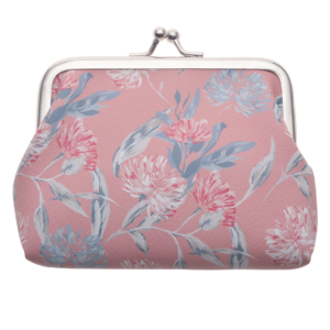 Pink Flowers Wallet Clip