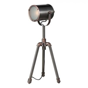 Jake Task Table Lamp Antique Silver And Copper